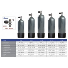 XS Scuba Steel HP100 Cylinder